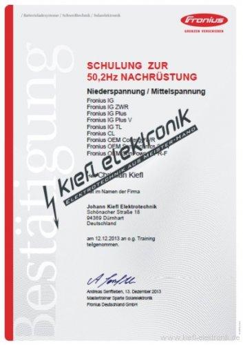 Zertifikat-Fronius