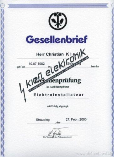 Zertifikat-Gesellenbrief