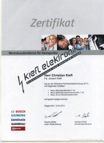 Zertifikat-Hausgeraete