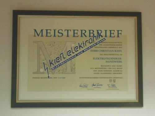 Kiefl Elektronik Meisterbrief
